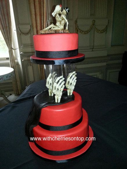 Gothic wedding cake Cake by withcherriesontop