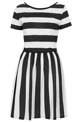 Tall Stripe Band Back Dress