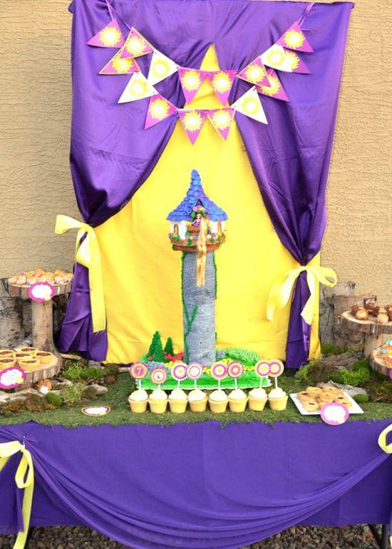 TANGLED Invitation- RAPUNZEL - Girls Birthday Party - Princess Party - Tangle - Disney Princess - Krown Kreations & Celebrations. $5.00, via Etsy.