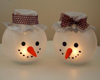 fish bowl snowmen decorations