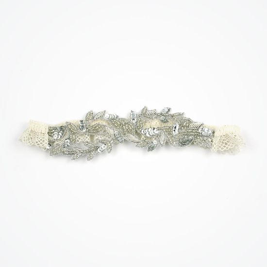 Aphrodite wedding garter by Florrie Mitton | Beaded vintage bridal garter Designed by Florrie Mitton, this beautiful beaded vintage garter evokes the decadence of bygone years in true starlet style. With branded keepsake box. Aphrodite wedding garter