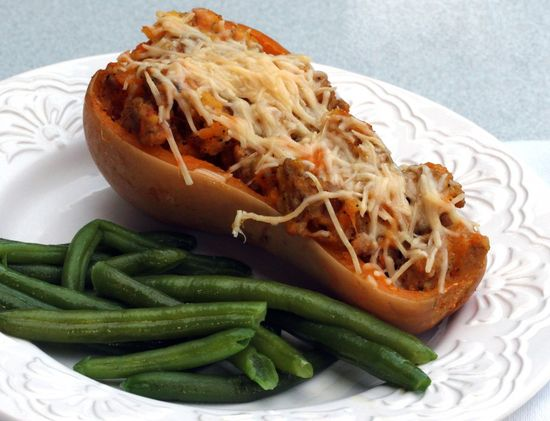 Sausage Stuffed Butternut Squash - From Calculu? to Cupcake?