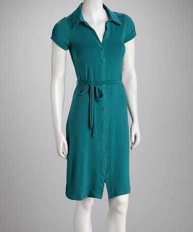 My Style / Take a look at this Jade Button-Up Dress by Color Theory ...