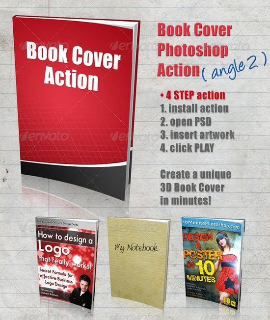 3D Book Cover Action - Angle