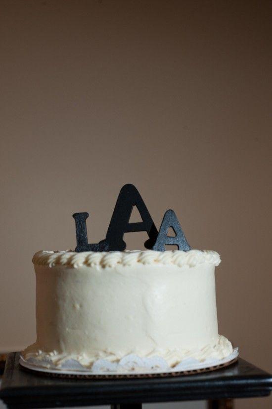 Monogram Wedding Cake Topper