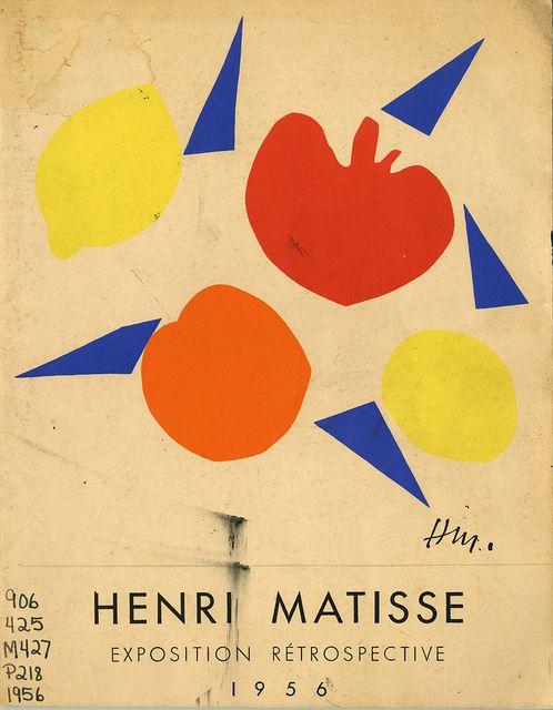 Jean Cassou, Henri Matisse Exposition Retrospective, Muse National D'Art Moderne Paris, 1956. Cover image by Henri Matisse.