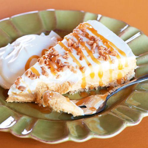 Pumpkin Caramel Cheesecake. Great Thanksgiving dessert.