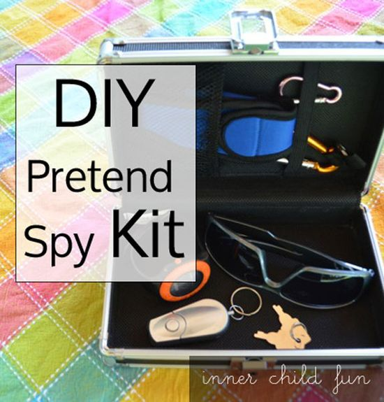 Hours of imaginative playtime fun with a simple DIY Pretend Spy Kit! Do your kids enjoy pretend play? #parenting #creativePlay #kids