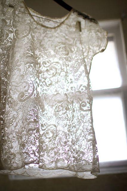 DIY lace shirt #sew
