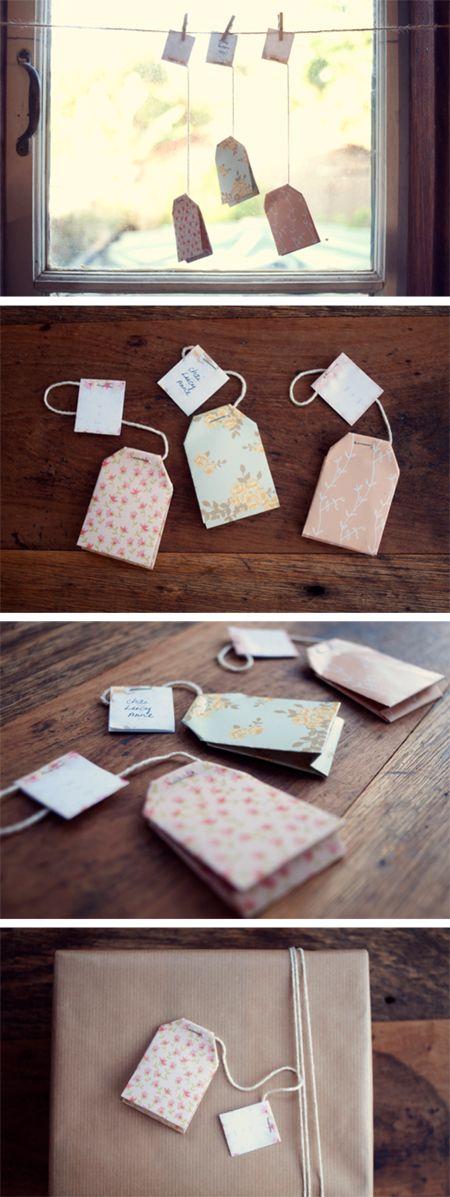 Tea Bag Gift Tag Printable and DIY tutorial