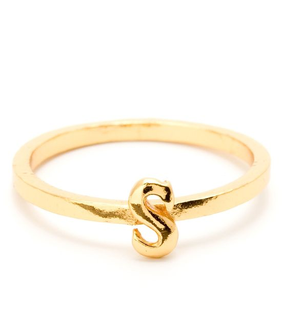 Alphabet Stackable Ring - Rings - Jewelry