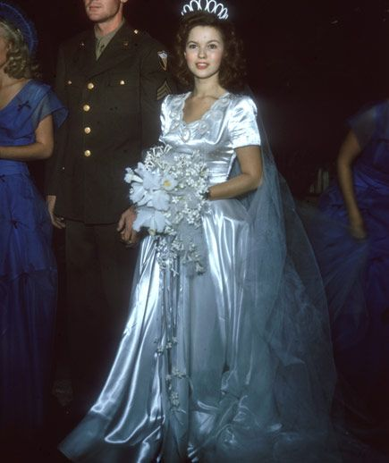 Shirley Temple's wedding dress