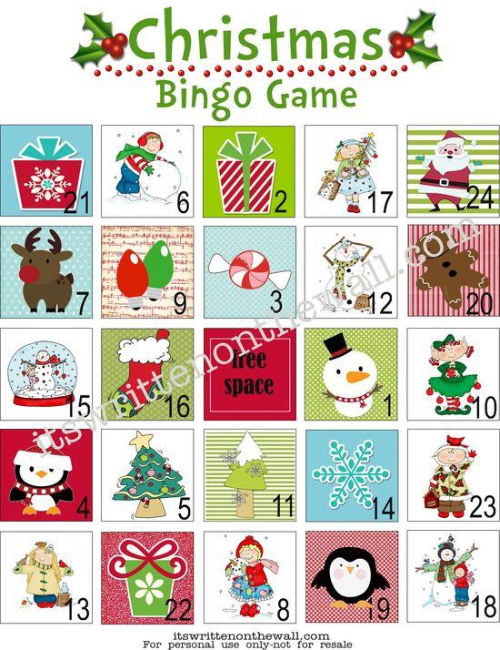 It's Written on the Wall: (Freebie) Christmas Bingo Game-Great Fun for School & Home