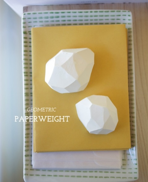 DIY geometric paperweights