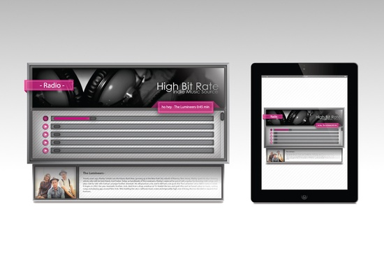 High Bit Rate - Radio Player by Justin Graham, via Behance