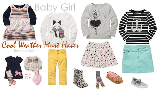 Baby Girl Fall Style Favorites {Carter's}