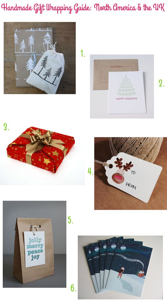 Handmade Gift Wrapping Guide: North America & the UK via Style for a Happy Home