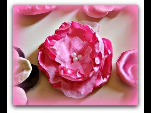 Handmade Fabric Flowers - fabric, flowers, #handmade handgun pos #handmade plushies #handmade house