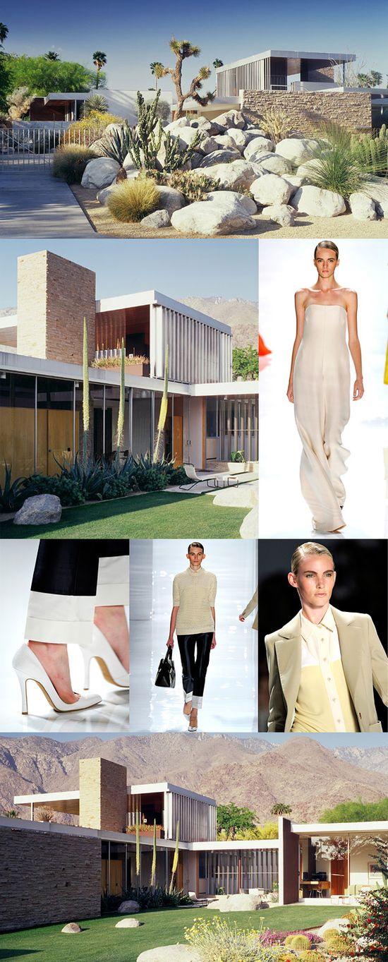 Modern architecture influences fashion.