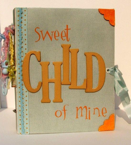 lovely handmade baby scrapbook