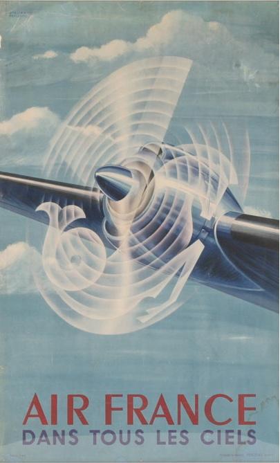 Vintage Travel Poster - Air France