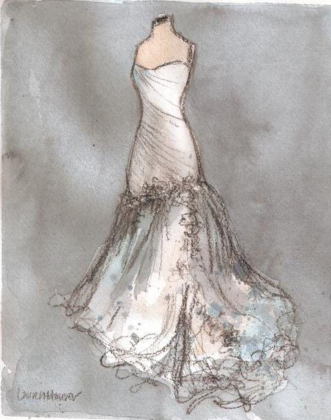 by Lauren Maurer. #watercolor  #fashion