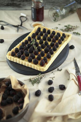 Blackberry goat cheese tart by julie marie craig, via Flickr.