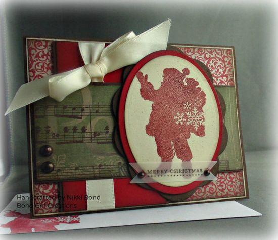 Santa Claus Silhoutte Handmade card