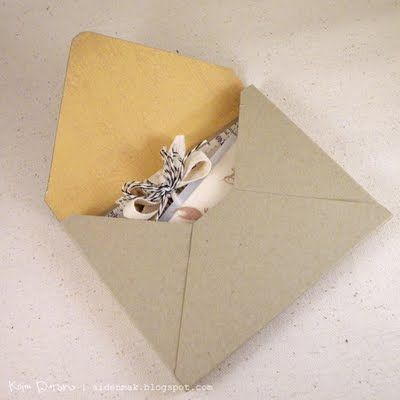 Envelope Tutorial for Embellished Cards - the envelope edges are wider for thicker items
