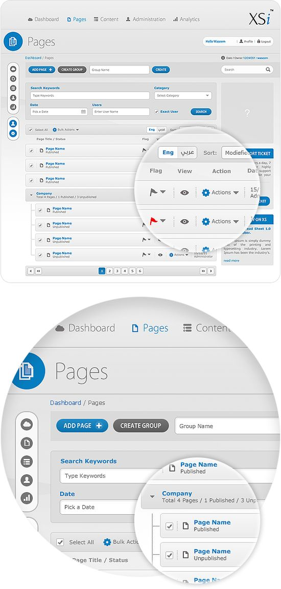 CMS - User Interface Design