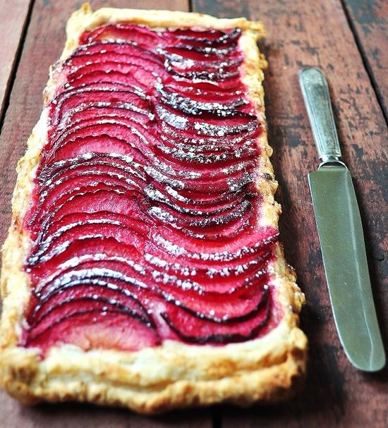 // red plum tart