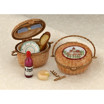 Limoges Nantucket picnic basket box