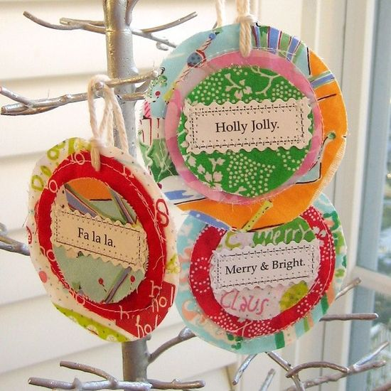 Handmade Christmas tags to dangle
