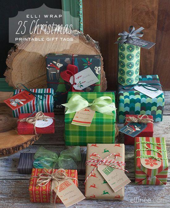 25 printable Christmas gift tags