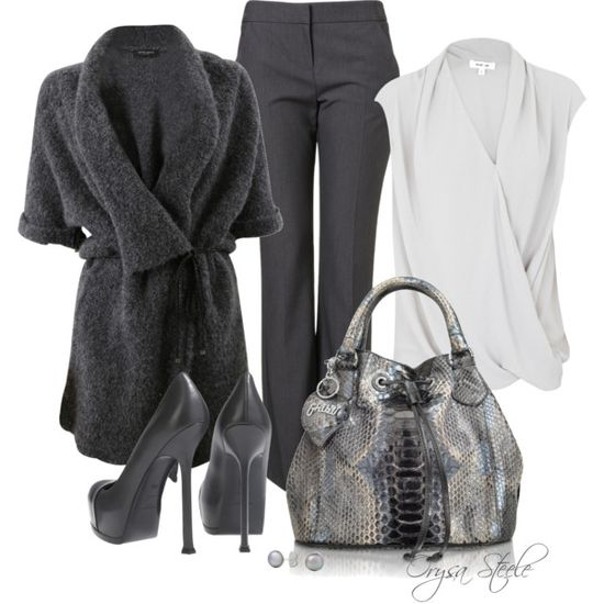 """Great in Grey"" by orysa on Polyvore"