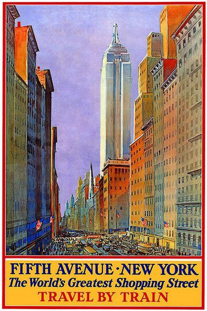 Vintage Travel Poster New York by Kirt Baab, via Flickr