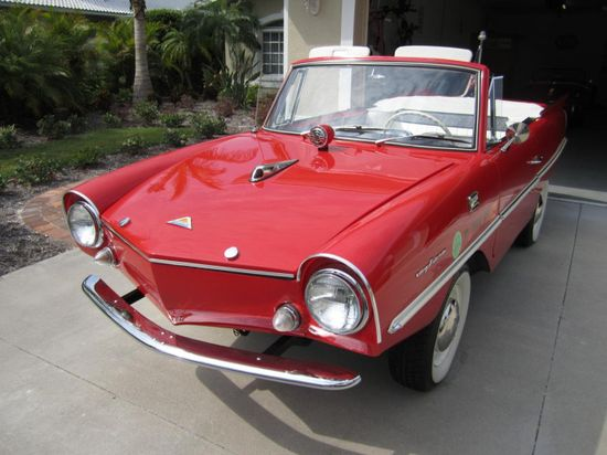 1964 Amphicar - as the name suggests it is a fully amphibious car, pretty awesome!