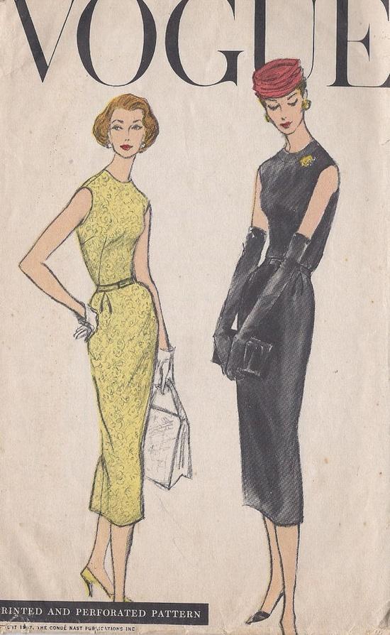 Vintage 1956 Misses' Wiggle Dress Pattern by CottageLaneTreasures, $14.00