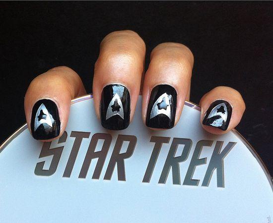 Star Trek Nails, via Flickr.
