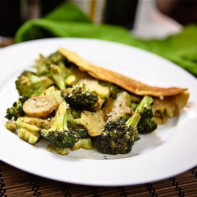 Chilla with Maple Roasted Cheezy Broccoli food healthy healthy food healthy eating food images broccoli food pictures maple