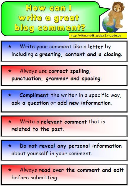 Blogging in the classroom steps