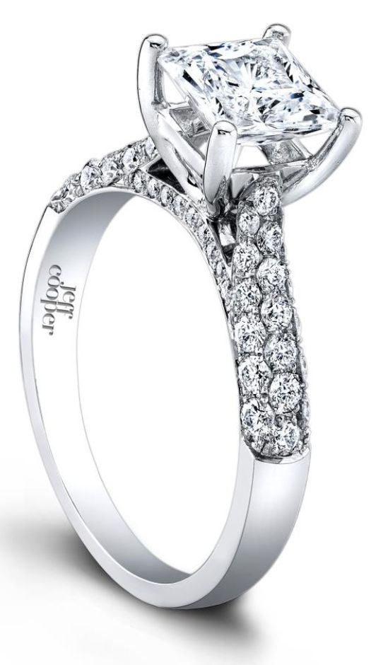 The Tatiana diamond engagement ring by Jeff Cooper. Via Diamonds in the Library.