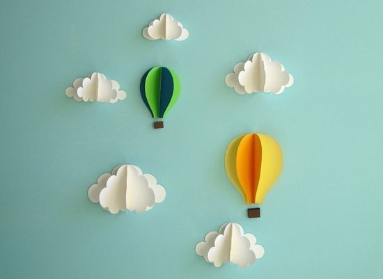 paper hot air balloons - playeveryday