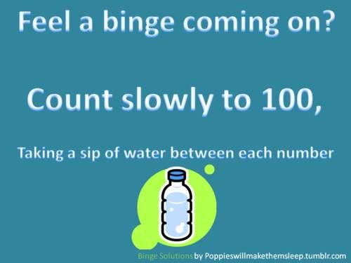 I really like this idea... count down from 100 if you feel like eating when you're bored