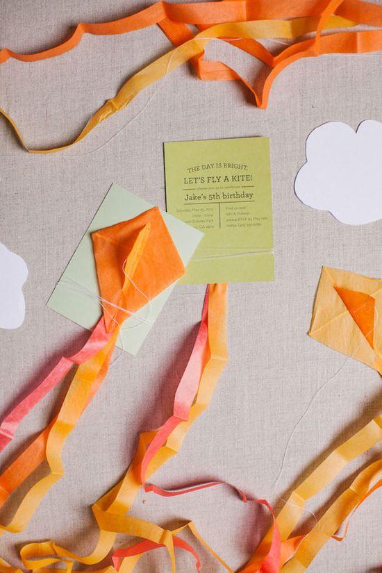Mini Kite Invitations