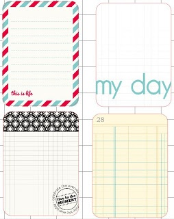 free printable Project Life cards - Back to Basics
