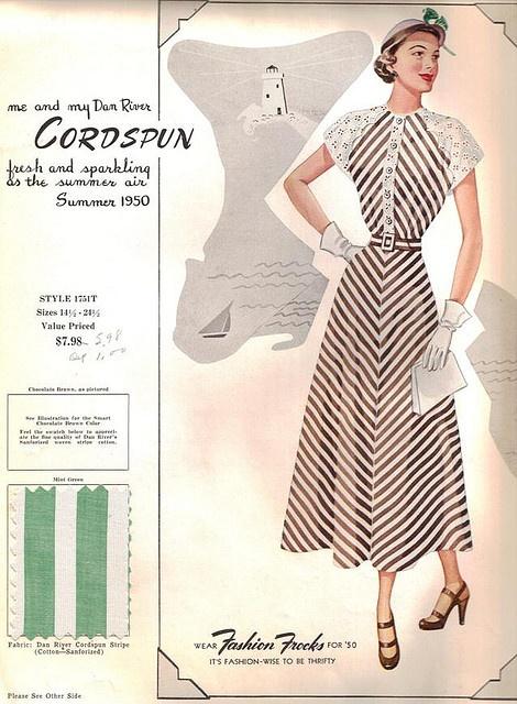 1950 Fashion Frocks Dan River sales sample book