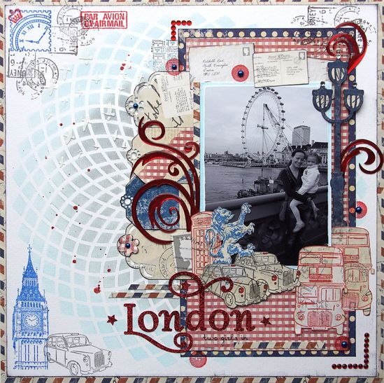 Two Girls in London {Color Combos Galore} - Scrapbook.com