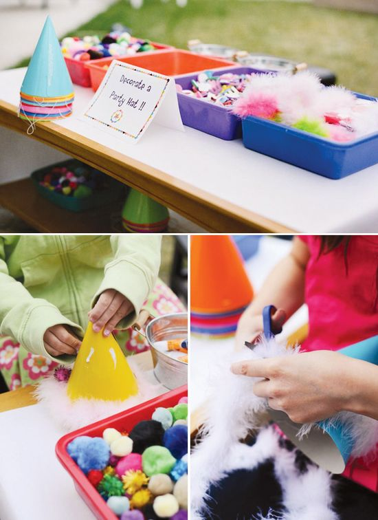 Decorate a party hat activity!