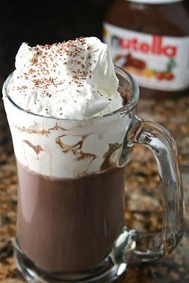 nutella hot chocolate, this is for you Madison.